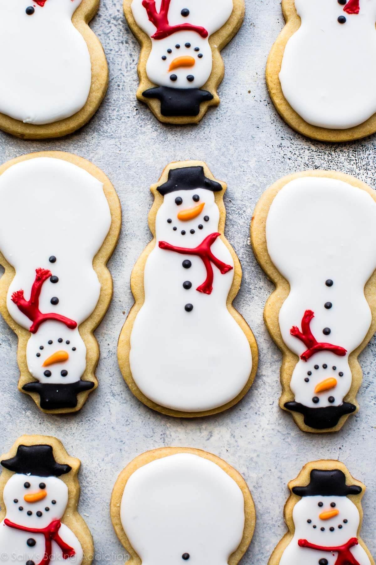 Snowman Christmas Cookies  Snowman Sugar Cookies Sallys Baking Addiction