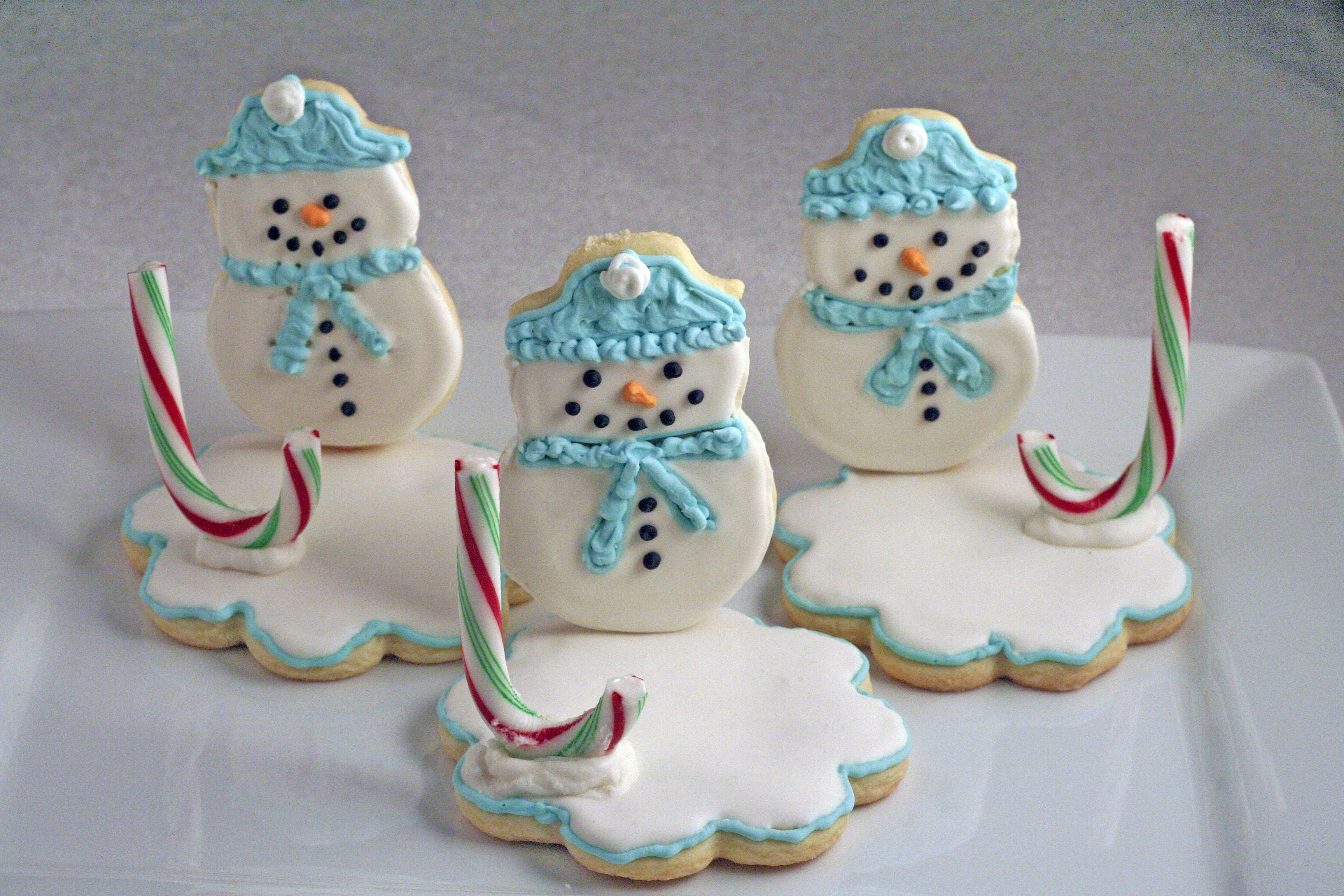 Snowman Christmas Cookies  Cher's Snowman Cookies