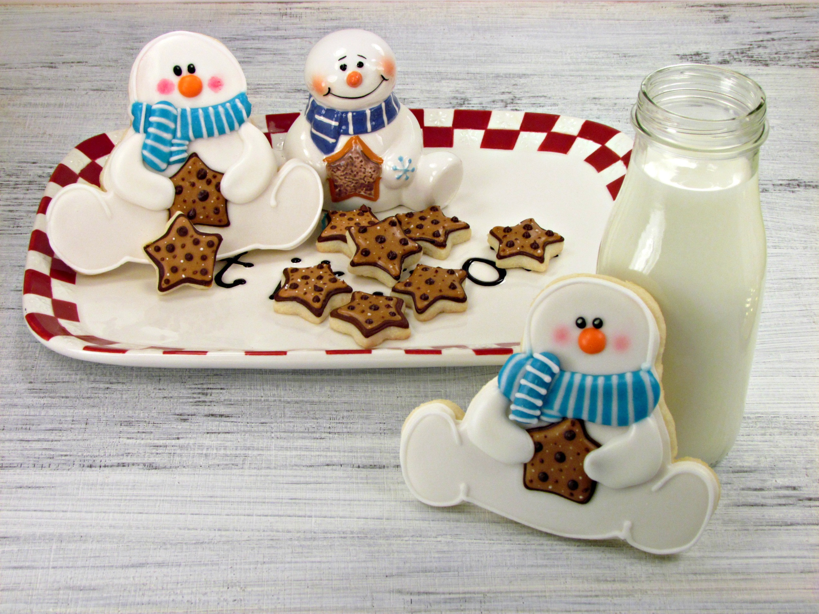 Snowman Christmas Cookies  Snowman Cookies Inpired by a Platter