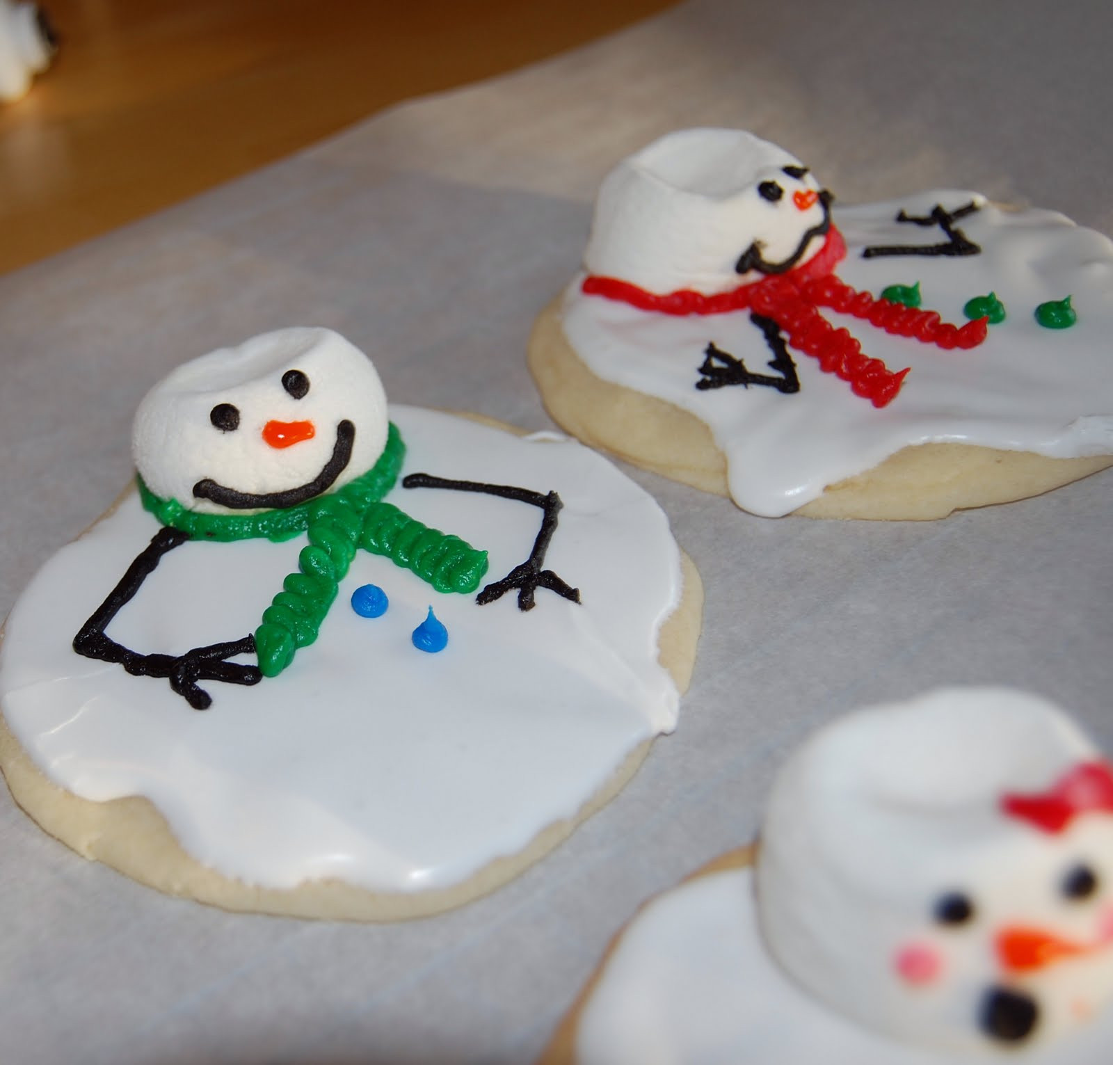 Snowman Christmas Cookies  patible With Joy Trisomy18 We re Crafty LIke That or