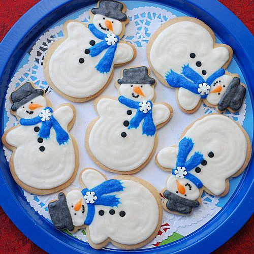 Snowman Christmas Cookies  Christmas Snowman Cookies Ideas