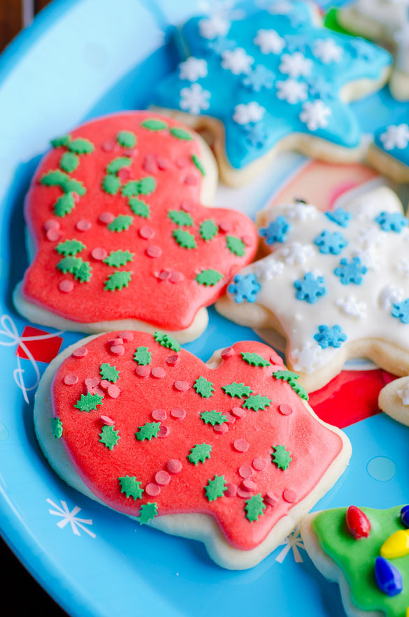 Soft Christmas Cookies  Soft Christmas Cut Out Sugar Cookies with Easy Icing
