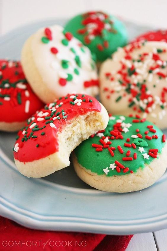 Soft Christmas Cookies  Sugar cookies Easy decorations and House on Pinterest