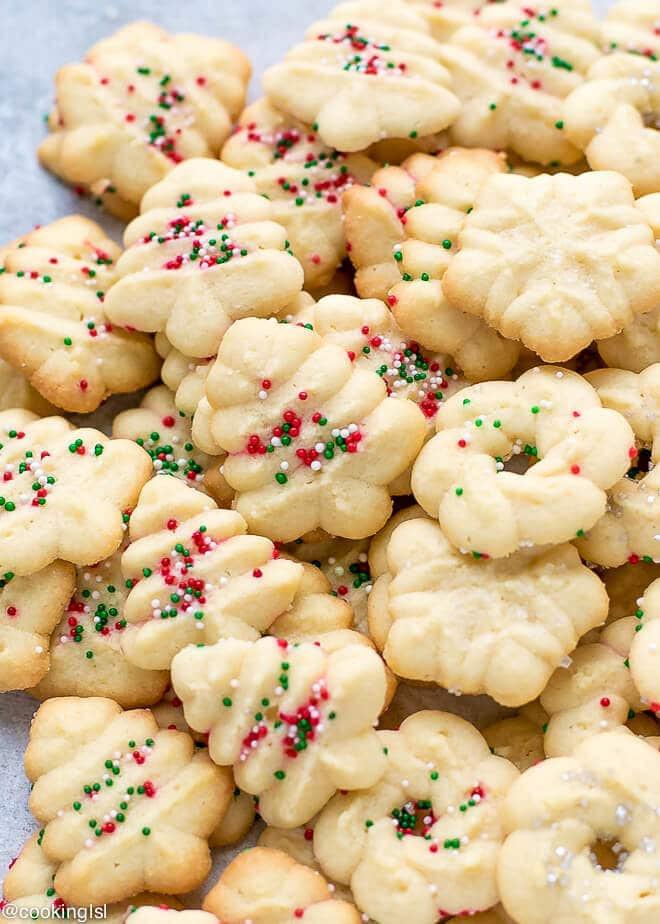 Spritz Christmas Cookies  Easy Cream Cheese Spritz Cookies Recipe Cooking LSL