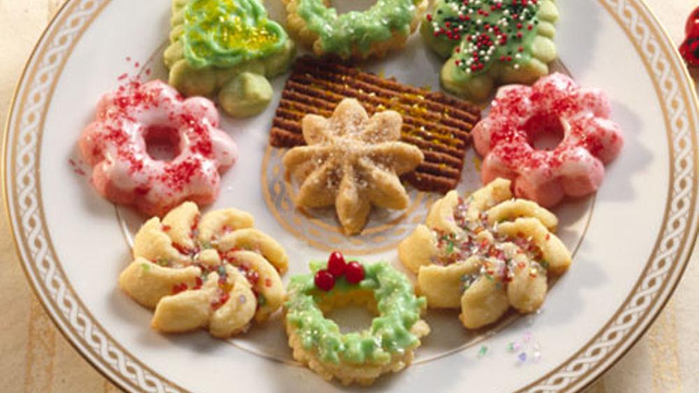 Spritz Christmas Cookies  Classic Spritz Cookies Recipe Pillsbury
