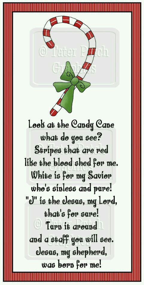 Story Of The Candy Cane At Christmas  Story The Candy Cane