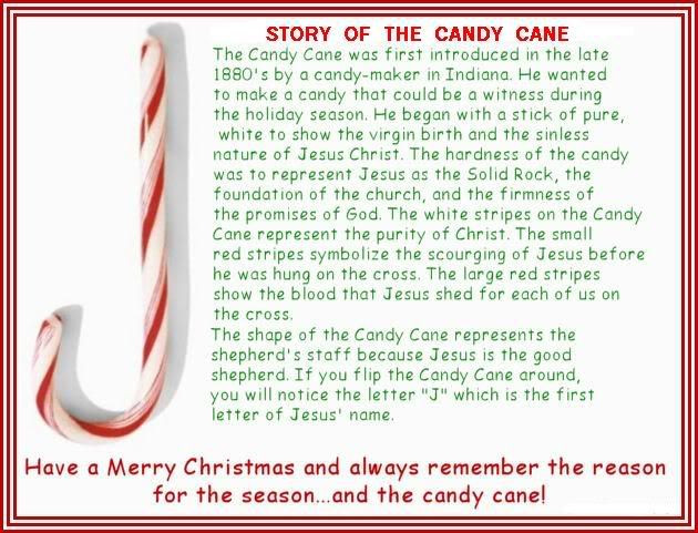 Story Of The Candy Cane At Christmas  legend of the candy cane printable