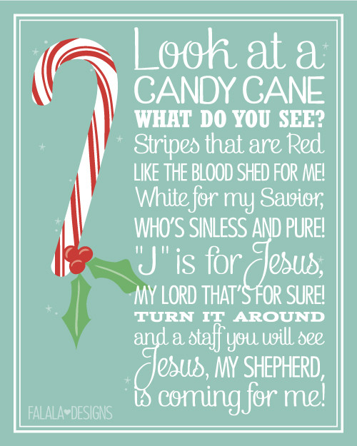 Story Of The Candy Cane At Christmas  falala designs Candy Cane Poem