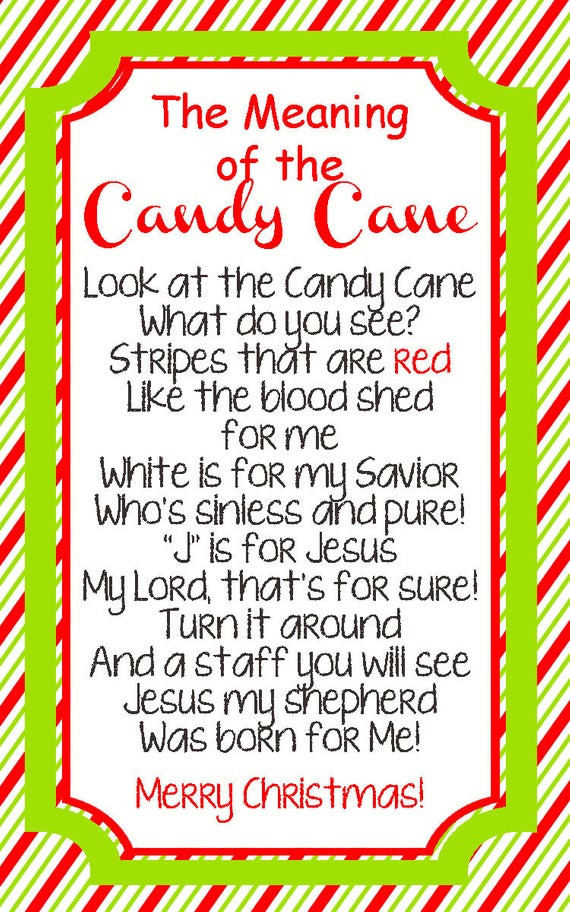 Story Of The Candy Cane At Christmas  Items similar to INSTANT DOWNLOAD Legend of the Candy
