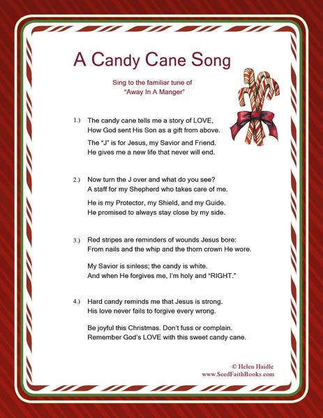 Story Of The Candy Cane At Christmas  Meaning of the Candy Cane PDF