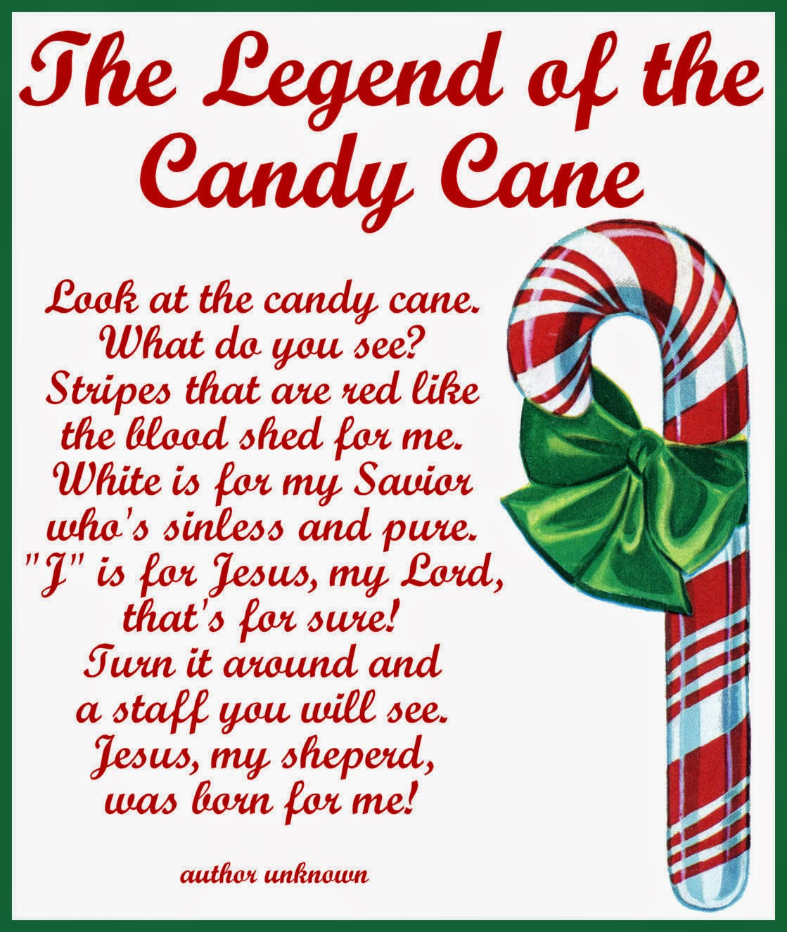 Story Of The Candy Cane At Christmas  Craftymumz Creations Candy Cane Legend Card Printable