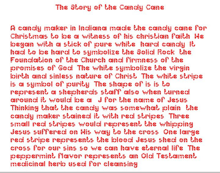 Story Of The Candy Cane At Christmas  God s Wonderful Gifts
