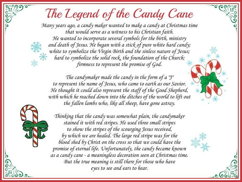 Story Of The Candy Cane At Christmas  The Legend of the Candy Cane Free Printable and a