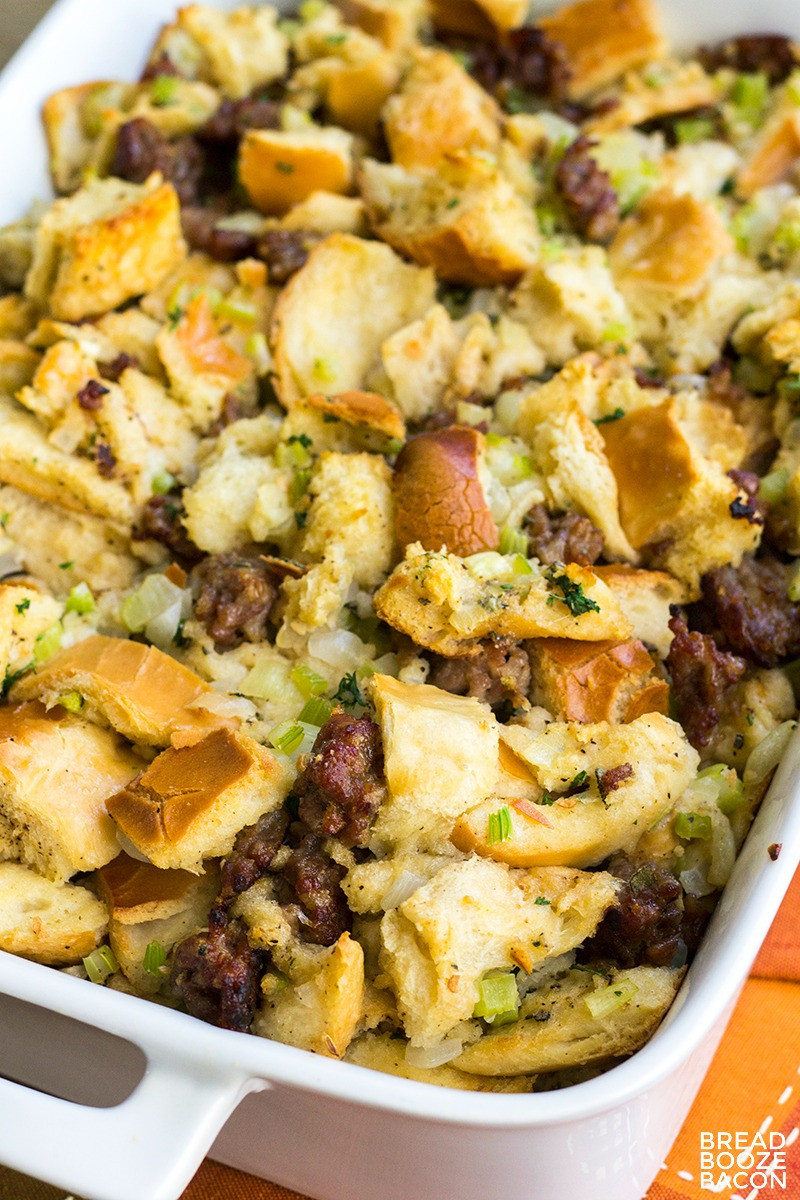 Stuffing Thanksgiving Side Dishes  Classic Sausage Stuffing