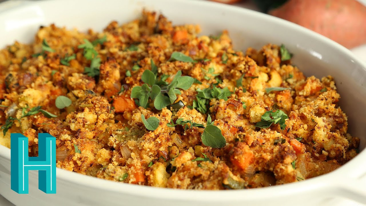Stuffing Thanksgiving Side Dishes  How to Make Chorizo Cornbread Dressing
