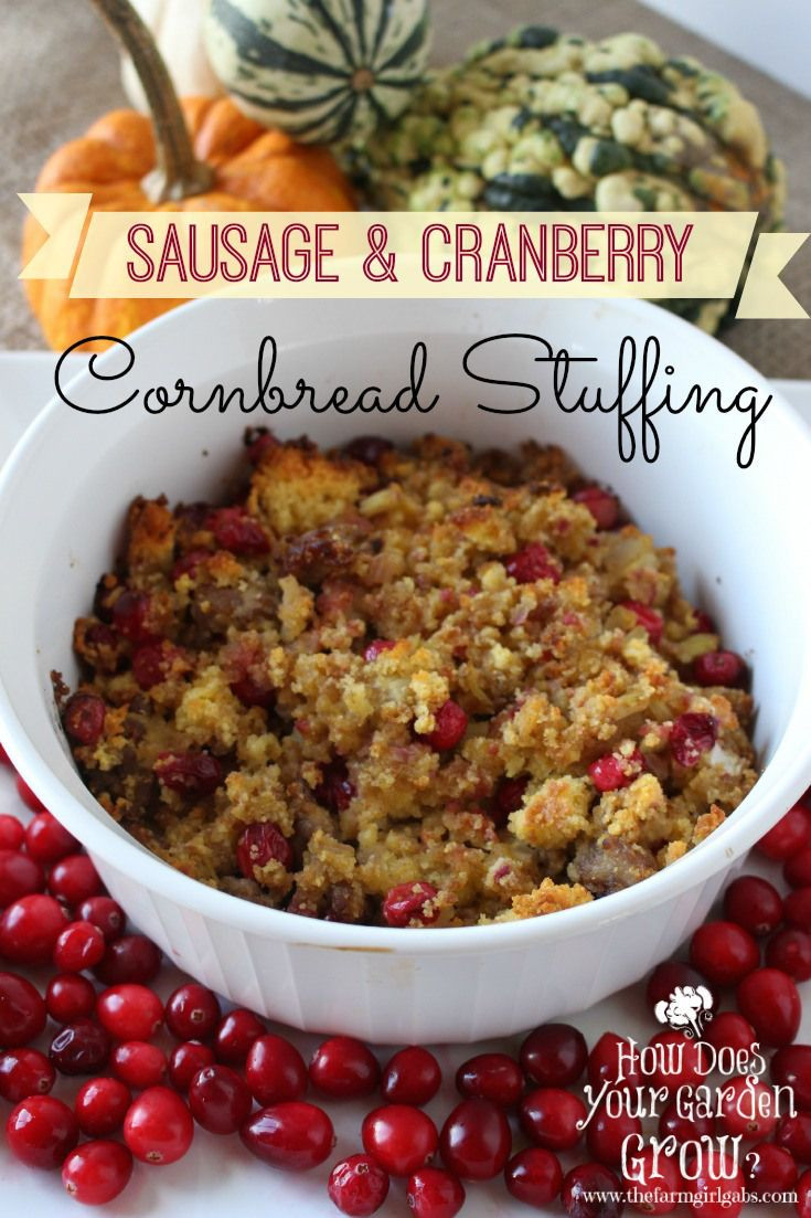 Stuffing Thanksgiving Side Dishes  Sausage and cranberry stuffing is a delicious Thanksgiving