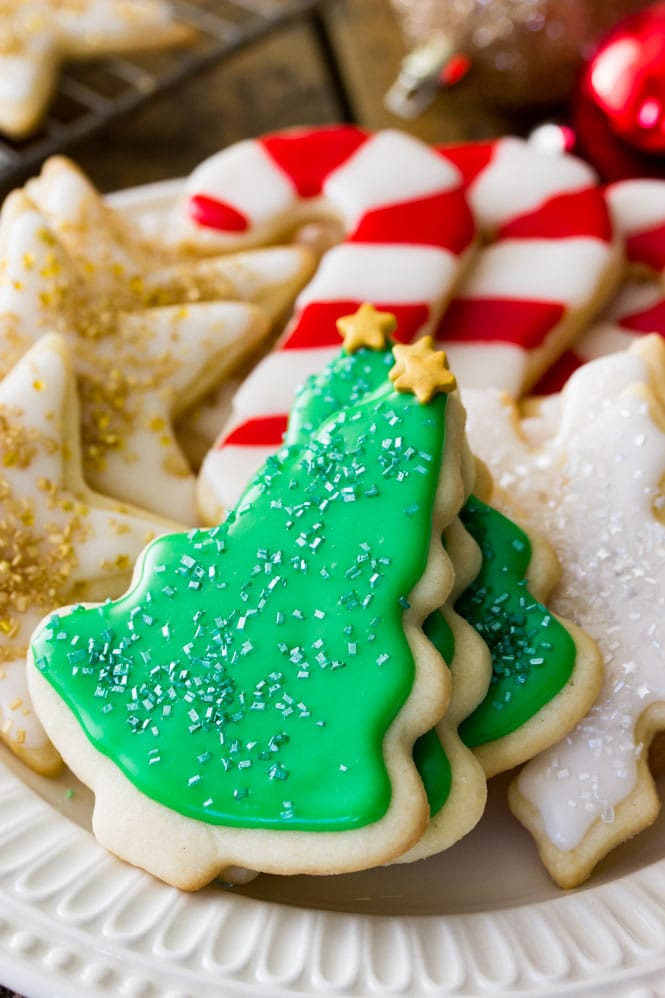 Sugar Christmas Cookies Recipe  Easy Sugar Cookie Recipe With Frosting Sugar Spun Run