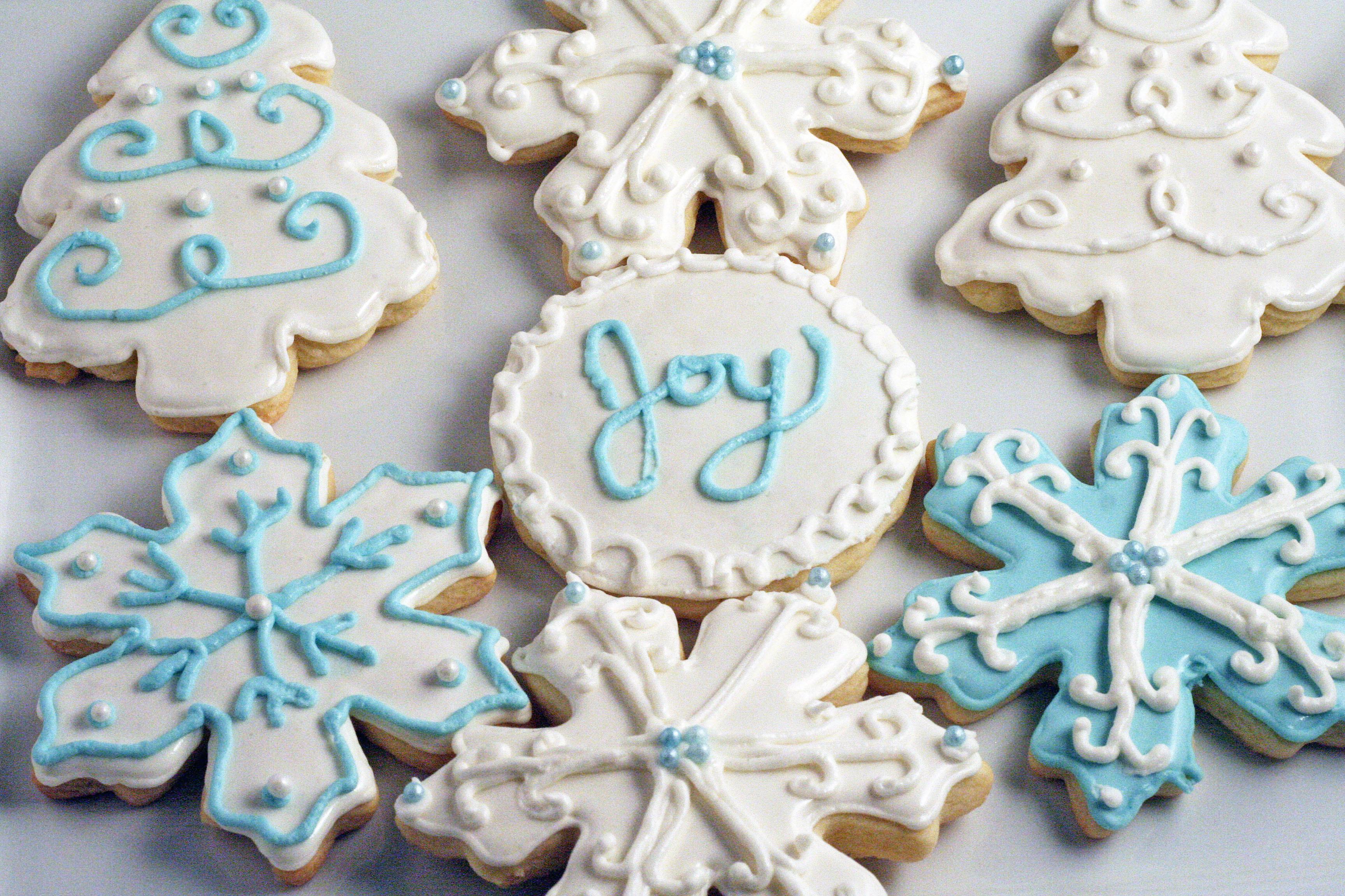 Sugar Cookies Christmas  Decorated Christmas Sugar Cookies