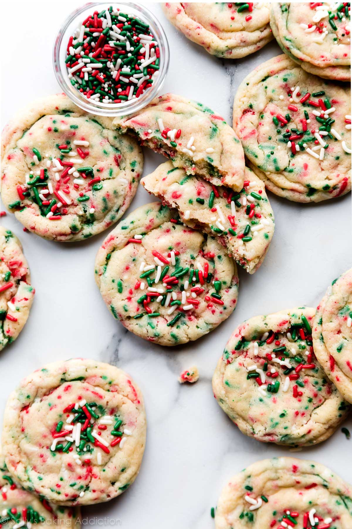 Sugar Cookies Christmas  Drop Style Christmas Sugar Cookies