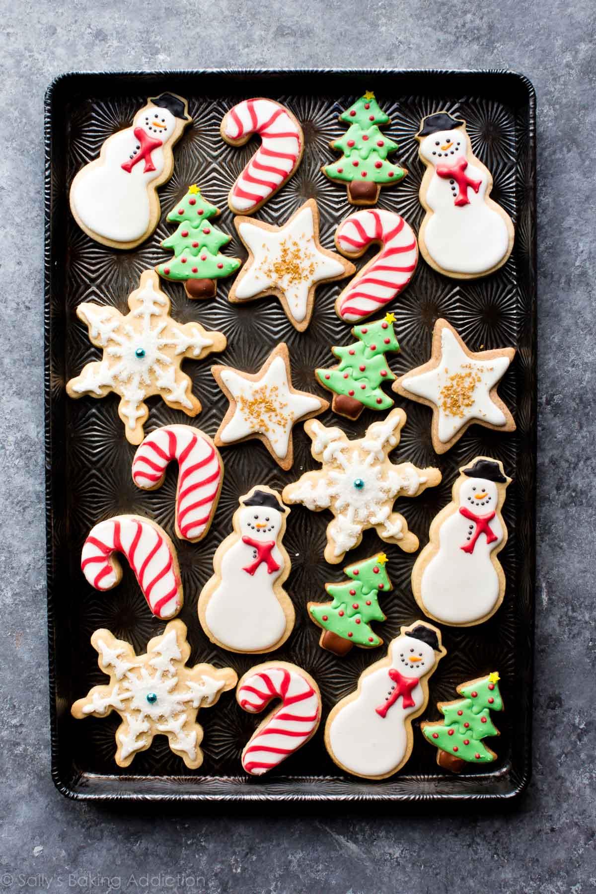 Sugar Cookies Christmas  1 Sugar Cookie Dough 5 Ways to Decorate Sallys Baking