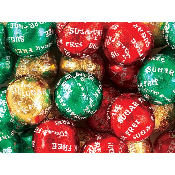 Sugar Free Christmas Candy  Christmas Foiled Sugar Free Chocolate Balls 5LB Bag