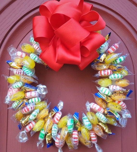 Sugar Free Christmas Candy  Sugar Free Candy Wreath Edible Assorted Christmas Centerpiece