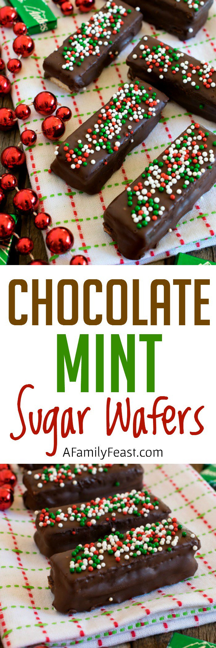 Sugarfree Christmas Candy  Chocolate Mint Sugar Wafers A Family Feast