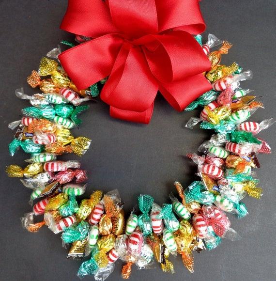Sugarfree Christmas Candy  Candy Wreath Sugar Free Edible Decoration No Sugar Holiday