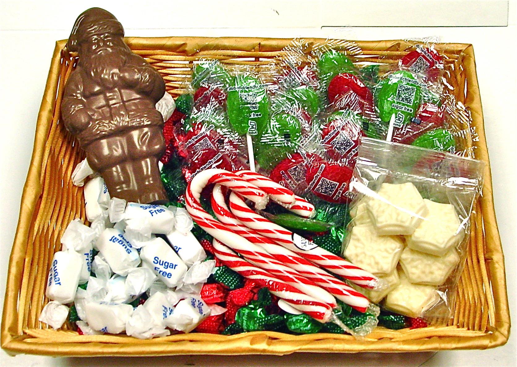 Sugarfree Christmas Candy  Sugar Free Christmas Gift Basket Contains Candy