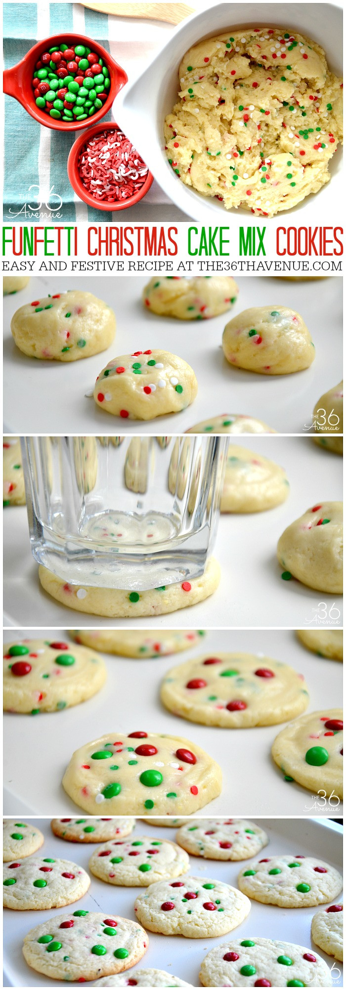 Super Easy Christmas Cookies  Christmas Cookies Funfetti Cookies The 36th AVENUE