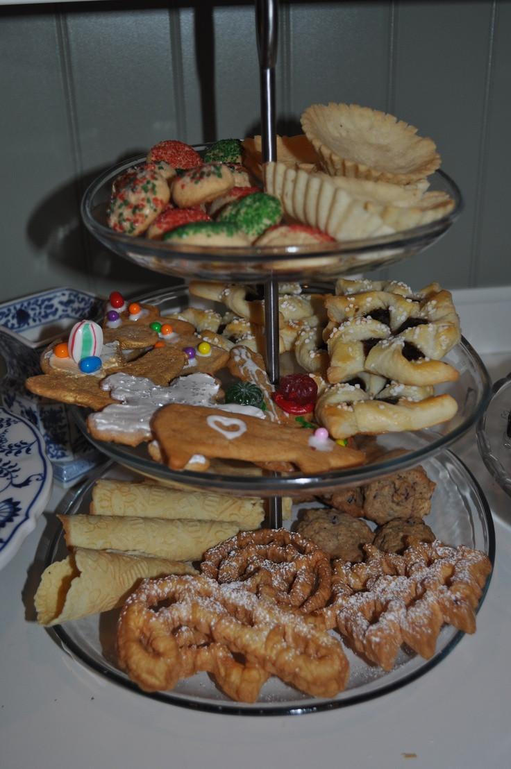 Sweden Christmas Desserts  Nice display of Scandinavian Christmas cookies