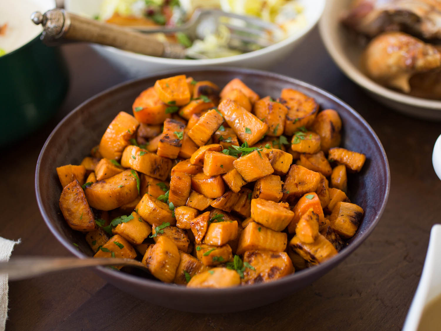 Sweet Potatoes Thanksgiving Side Dishes  8 Not Too Sweet Sweet Potato Recipes for Thanksgiving