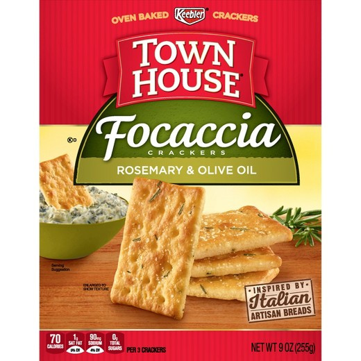 Target Christmas Crackers  Town House Focaccia Rosemary and Olive Oil Crackers 9oz