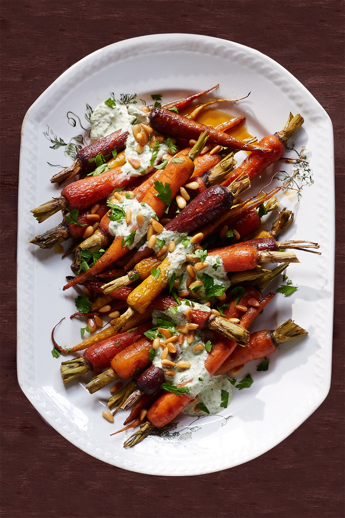 Thanksgiving Carrot Side Dishes  Orange Carrots with Yogurt Parsley Dressing