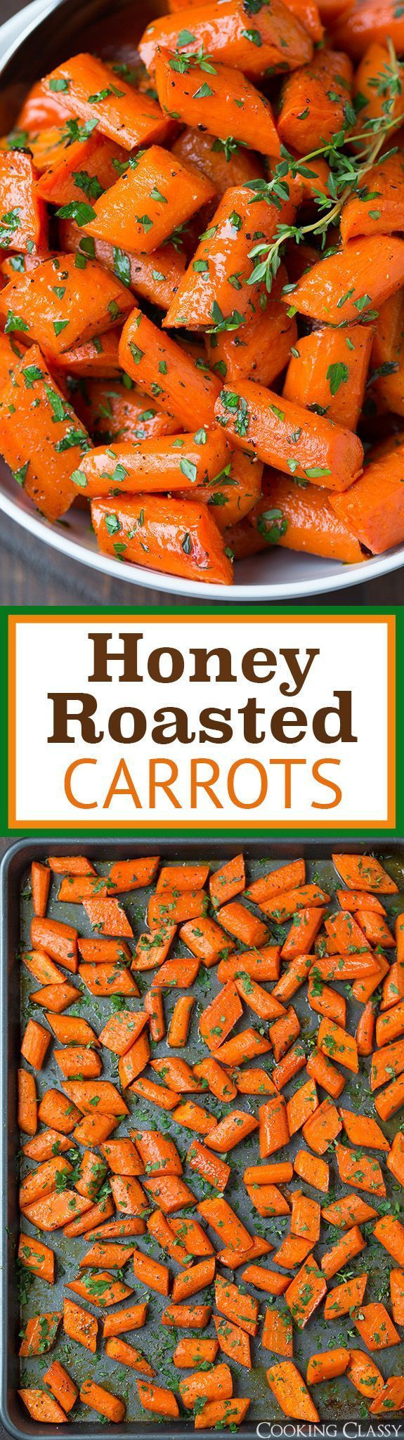 Thanksgiving Carrot Side Dishes  Check out Honey Roasted Carrots It s so easy to make