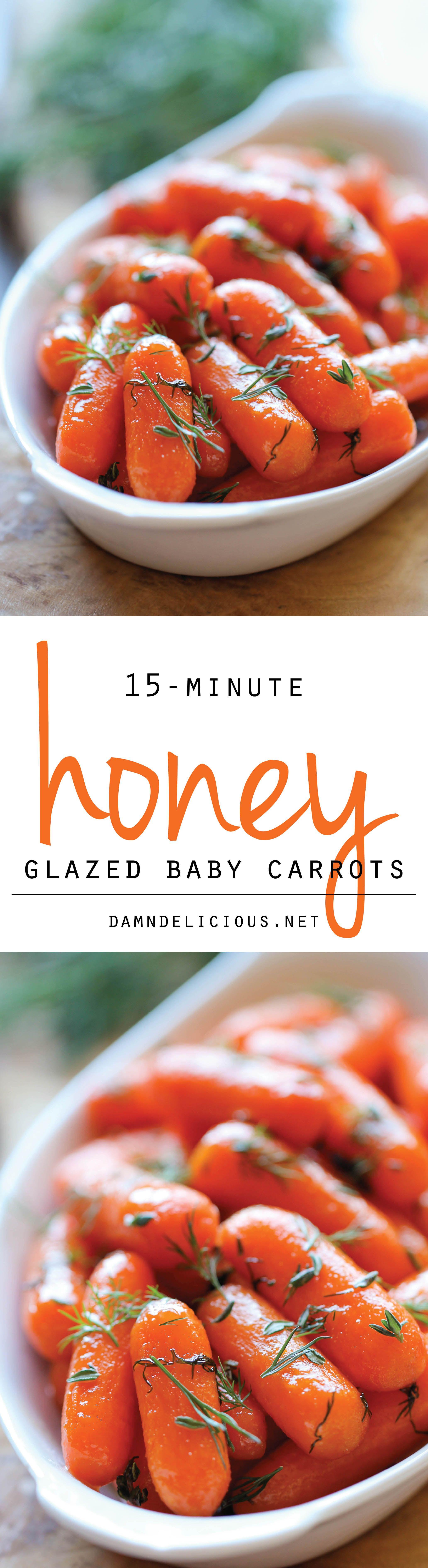 Thanksgiving Carrot Side Dishes  Honey Glazed Baby Carrots Recipe