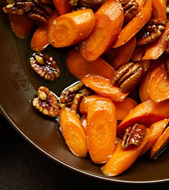Thanksgiving Carrot Side Dishes  Glazed Carrots with Pecans Recipe