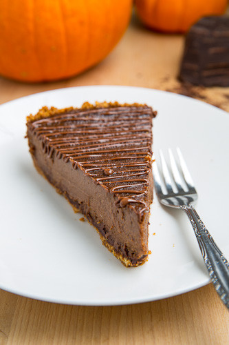 Thanksgiving Chocolate Pie  Triple Chocolate Pumpkin Pie on Closet Cooking