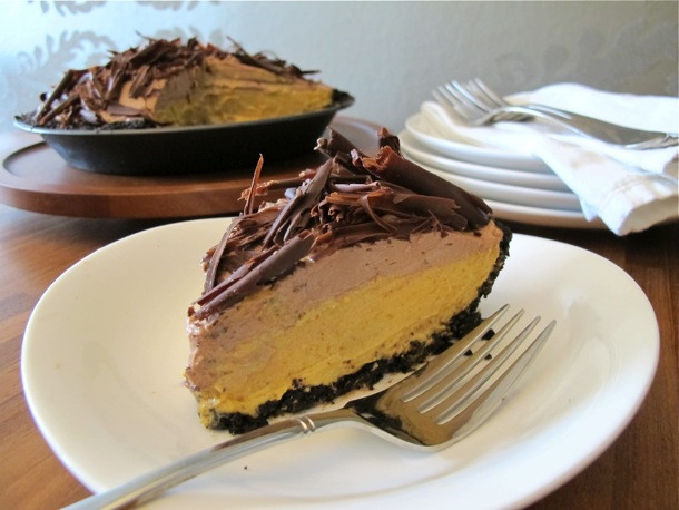 Thanksgiving Chocolate Pie  Thanksgiving Pie Countdown No Bake Chocolate Pumpkin