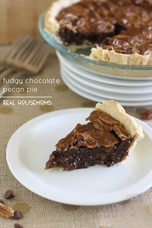 Thanksgiving Chocolate Pie  Fudgy Chocolate Pecan Pie ⋆ Real Housemoms