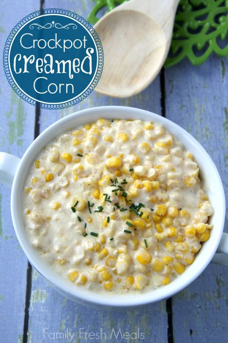 Thanksgiving Corn Recipes  Crockpot Creamed Corn Recipe
