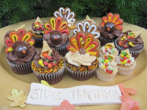 Thanksgiving Cupcakes Decorating Ideas  Easy Adorable Thanksgiving Cupcake Decorating Ideas