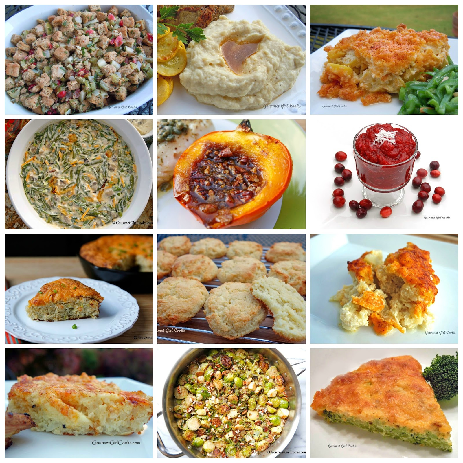 Thanksgiving Day Side Dishes  Gourmet Girl Cooks 12 Thanksgiving Side Dish Recipes