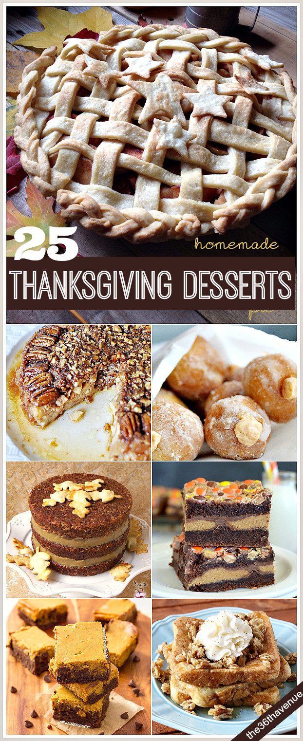 Thanksgiving Dessert Ideas  25 Thanksgiving Recipes Desserts and Treats The 36th