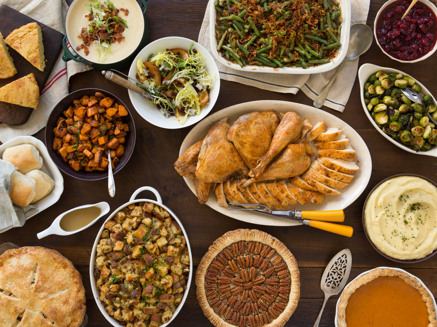 Thanksgiving Dinner Food  A Classic Thanksgiving Menu to Feed a Crowd