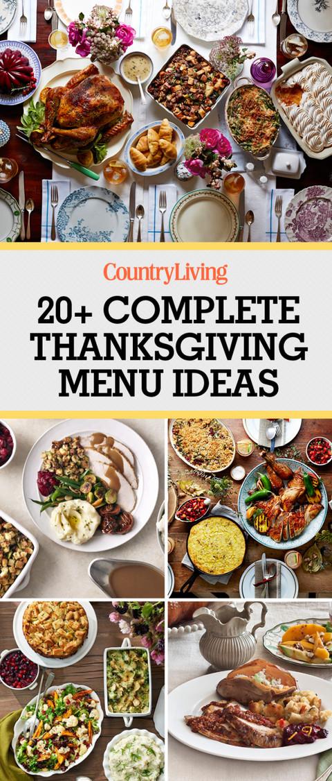 Thanksgiving Dinner Food  28 Thanksgiving Menu Ideas Thanksgiving Dinner Menu Recipes