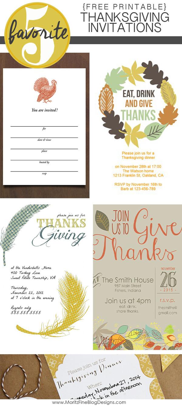 Thanksgiving Dinner Invitations  Thanksgiving Invitations