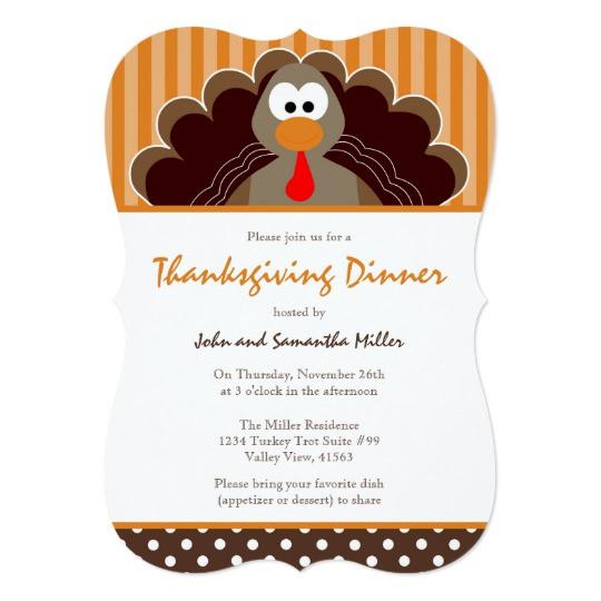 Thanksgiving Dinner Invitations  Cute Thanksgiving Dinner Invitation
