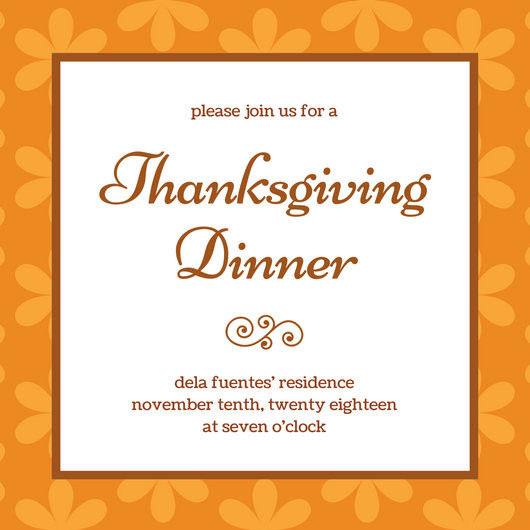 Thanksgiving Dinner Invitations  Customize 108 Thanksgiving Invitation templates online