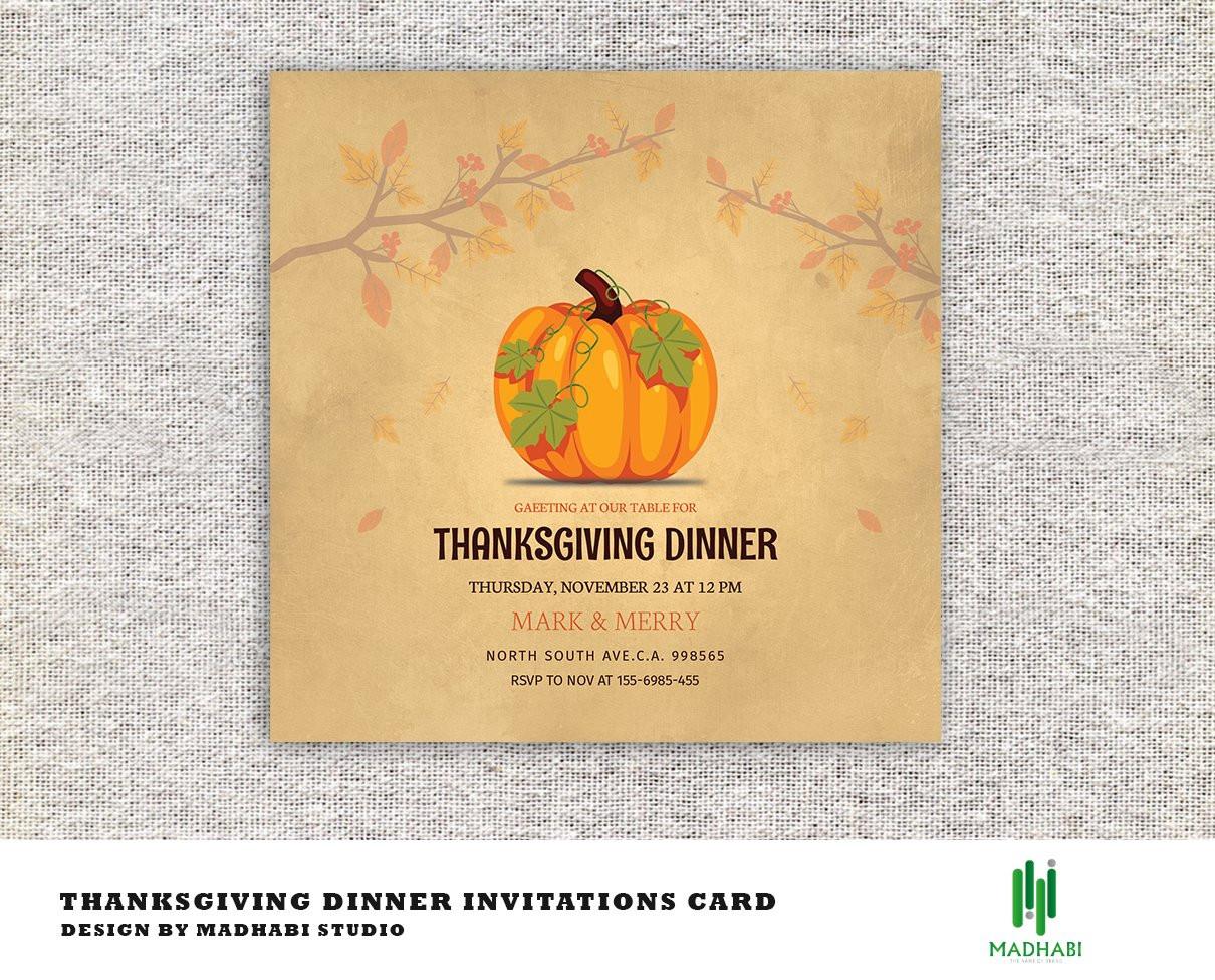 Thanksgiving Dinner Invitations  Thanksgiving Dinner Invitations Card Invitation